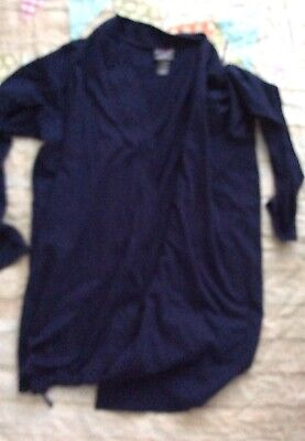 Motherhood Maternity Oh Baby Sleep Pajama Shirt Only Robe Navy Blue Large Flaw