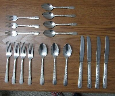 Vintage 18 pcs Wallace Brothers Fortune Fork Spoon Knife Silverplate