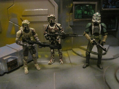 Star Wars TAC, TLC, TVC Kashyyyk Troopers, Commander Gree and Faye and Trooper