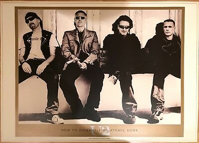 U2. LITHOGRAPHIC POSTER * MINT * 690mm x 970mm * PRINTED ON LUXURIOUS ART BOARD