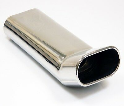 Asso Stainless Steel End Pipe Universal 5 27/32x2.99in