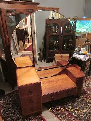 Authentic Merryweather Holloway Art Deco geometric mirrored chest of drawers