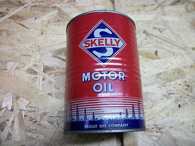 SKELLY metal qt. oil can 1960 50 hot rod ratrod