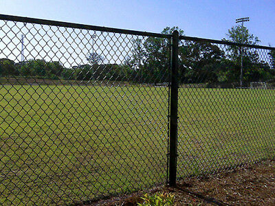 Black PVC coated Chain-link fence 1.2m*20m*50mm*50mm*3.3mm,$131.00/roll