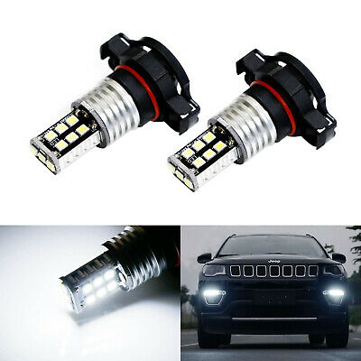 White 15-SMD High Power LED Daytime Running Light Bulbs For 2017-up Jeep Compass
