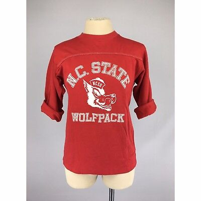 Vintage NC State University Wolfpack NCSU Red T Shirt S M Unisex NCAA 70's 80's