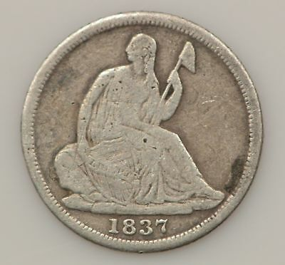 1837-P Seated Liberty Silver Half Dime *G20