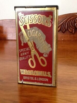 Scissors Cigarettes Special Army Quality Tobacco Tin