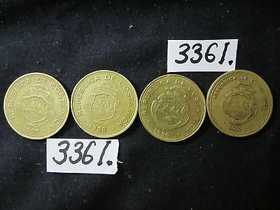 4  x assorted coins from COSTA RICA  Mar3361    37 gms