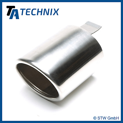 TA TECHNIX End pipe Stainless Steel Universal 3 11/32x3 3/4in Oval /Flanged/