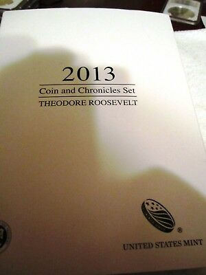 2013 Theodore Roosevelt Coin & Chronicles 3 Coin Set OGP COA, Book, 15K Mintage