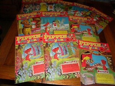 51 Issues Of Pippin In Playland No 485 - 536  From 1976 -  V.g.c  - Tv Themed