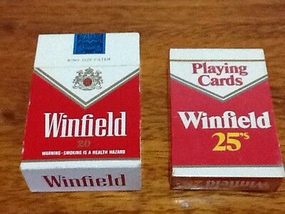 Winfield Tobacco Promotional Radio And Playing Cards