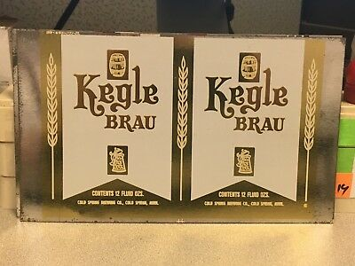 Kegle Brau (White Label) Unrolled Beer Can Flat/Proof Cold Spring Brewing Co MN