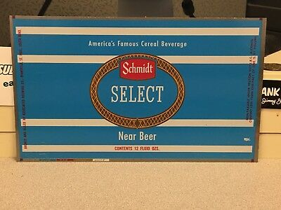 Schmidt Select Near Beer Unrolled Beer Can Flat/Proof Associated Brewing MN