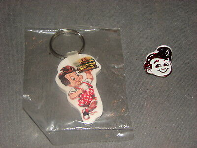 Frisch's Big Boy Key Chain Ring & Plastic Ring [VINTAGE]