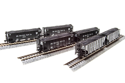 N Scale Broadway Limited 'Pennsylvania' H2a Hoppers (6) Car Set. Item #3648