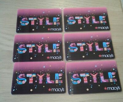 """6 Macy's 2018,  """" STYLE """" Gift Cards,  Collectible, Mint, Beautiful Artwork"""