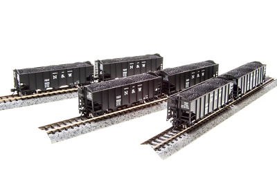 N Scale Broadway Limited 'Norfolk & Western' H2a Hoppers (6) Car Set. Item #3644