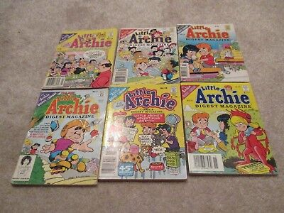 Lot of 6 Archie Digests, Little Archie Digests, 3, 15, and 26 Included
