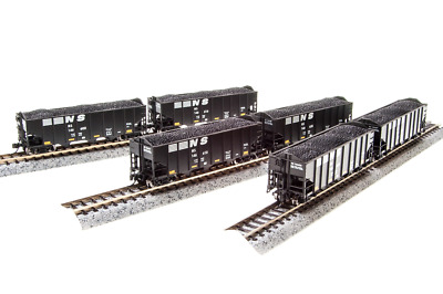 N Scale Broadway Limited 'Norfolk & Southern' H2a Hoppers (6)Car Set. Item #3653