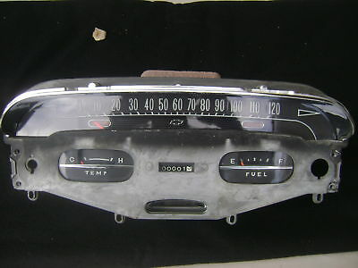 1958 Chevy Impala Dash Cluster Speedometer 58 STUNNING - only 7 left!
