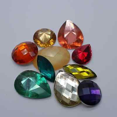 Super Sparkly Face & Body Crystals: 10pc Multi Coloured Crystal Pack