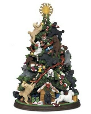 Discontinued Danbury Mint Poodle Christmas Tree