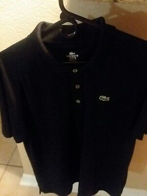 Mens Lacoste Black Polo Size Xl 6 Soft, Sleek, Very Nice Shirt