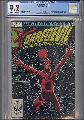 Daredevil #188 CGC 9.2  Frank Miller Comic in 1982 Black Widow: NEW CGC Frame