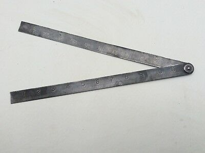 Hockley Abbey steel ruler No 1667