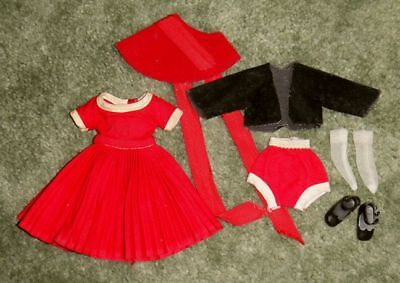 VINTAGE Betsy McCall 1958 Doll Clothes+Accessories—COMPLETE w/ RARE HAT & JACKET