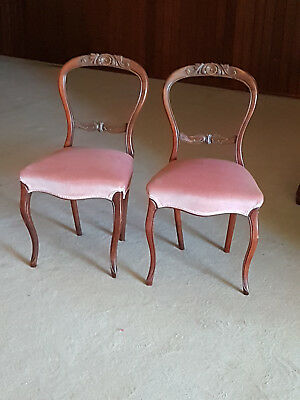 4 gorgeous Victorian mahogany occasion chairs