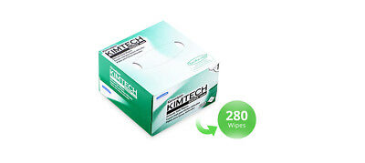 "KIMTECH SCIENCE KIMWIPES Delicate Task Wipers 4.4"" x 8.4"" 280/Box Made In USA"