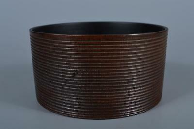 K2169: Japanese Bamboo Ring line sculpture WASTE-WATER POT Kensui Tea Ceremony