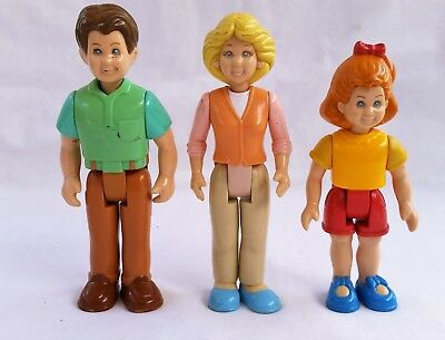Vintage Little Tikes Family Dollhouse Figures -  Mom Dad & Daughter