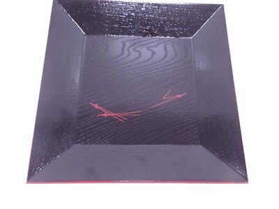 3455852: Japanese Tea Ceremony / Lacquered Square Tray / Pine Leaf