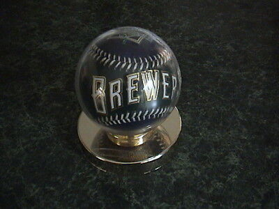 Milwaukee Brewers Display Baseball In Case Brewers