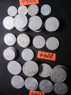 """94 x assorted  coins  from  France """"AS IS""""  50  gms      Mar4428"""