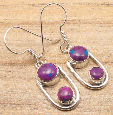 925 Silver Plated Ancient Style Earrings Gemstone Jewelry Brand New