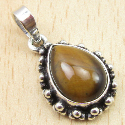 925 Silver Plated OXIDIZED Pendant ! Ancient Style Gemstone Jewelry