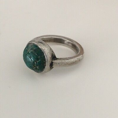 Beautiful Genuine Silver Roman Ring With Stone