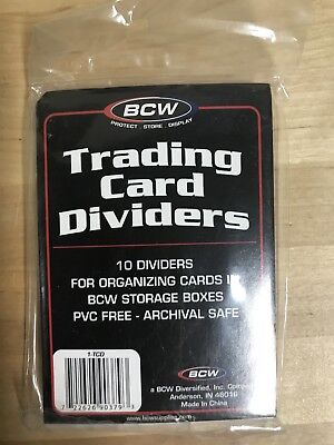 BWC Trading Card Dividers