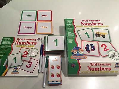 Total Learning Numbers Activity Book & Learning Card Kit