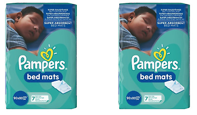 2 X Pampers Bed Mats 90x80cm 7 Bed Mats (14 Total)