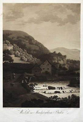 WIESLETH/b. Lörrach Original Aquatinta Ostermeyer 1797