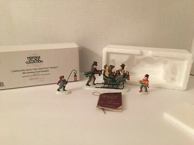 Dept 56 Dickens Village Caroling  With The Cratchit Family (Revisited) 58396