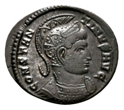 CONSTANTINE THE GREAT (323 AD) Ae3 Follis. Trier #RA 10546