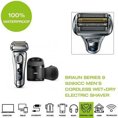 *Brand New* Braun Series 9 9290cc Men's Cordless Wet+Dry Electric Shaver- Silver