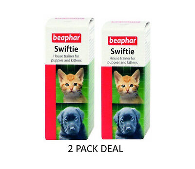 2 X 2 Ml Beaphar Swiftie Puppy Kitten House Trainer For Training Pad Litter Tray